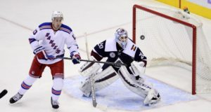 The New York Rangers have been scouting the Colorado Avalanche, who could use someone like Kevin Hayes.
