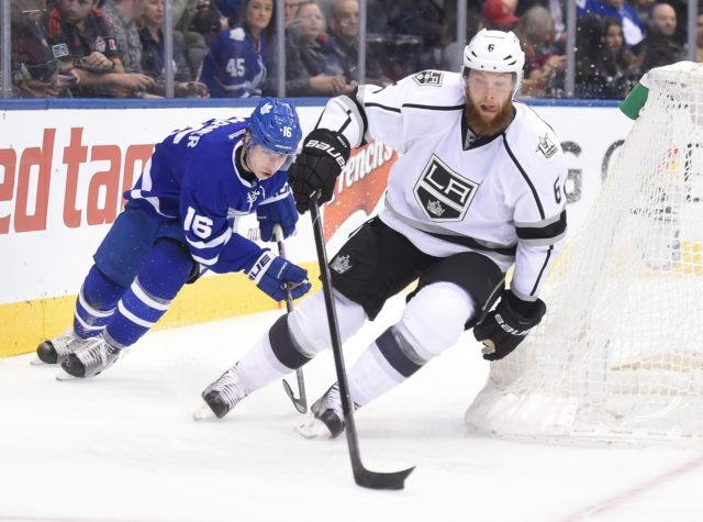 The LA Kings have traded defenseman Jake Muzzin to the Toronto Maple Leafs.