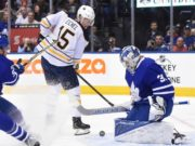 Jack Eichel out for Saturday's game. Frederik Andersen placed on the IR.