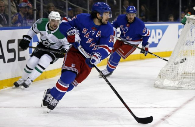 The New York Rangers have traded forward Mats Zuccarello to the Dallas Stars for a conditional 2019 2nd round pick and a conditional 3rd round pick.