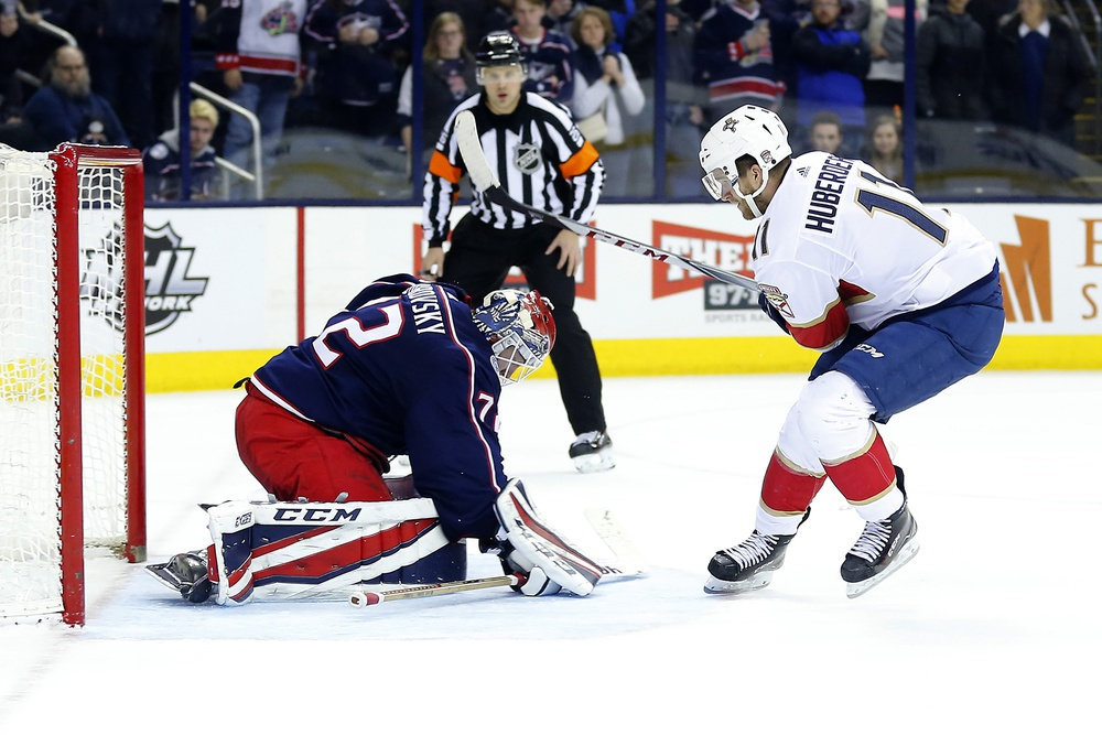 Could the Florida Panthers make Jonathan Huberdeau available to the Columbus Blue Jackets in a Sergei Bobrvosky and Artemi Panarin deal?