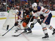 Anaheim Ducks Jakob Silfverberg and the Edmonton Oilers Jesse Puljujarvi
