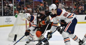 Anaheim Ducks Jakob Silfverberg and the Edmonton Oilers Jesse Puljujarvi