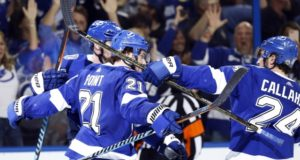The Tampa Bay Lightning and Brayden Point won't talk contract until the offseason. Ryan Callahan a healthy scratch.