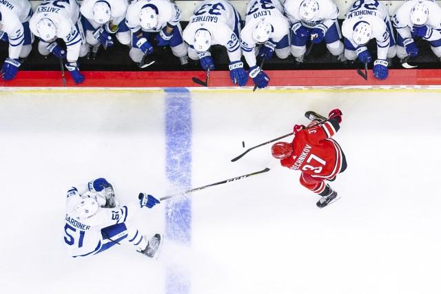 Jake Gardiner's agent met with Toronto Maple Leafs GM on Wednesday.
