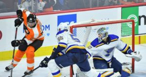 Philadelphia Flyers and St. Louis Blues are back in the NHL playoff race when six weeks ago they looked down and out.