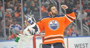 The Edmonton Oilers have spoken with Cam Talbot about possibly coming back next year.