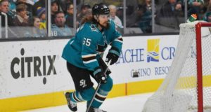 Erik Karlsson returns to the Sharks lineup after missing nine games.