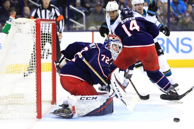 Seems unlikely the Columbus Blue Jackets will move Sergei Bobrovsky. Looking to add a defenseman.