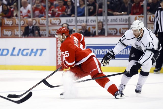 Niklas Kronwall and Jeff Carter