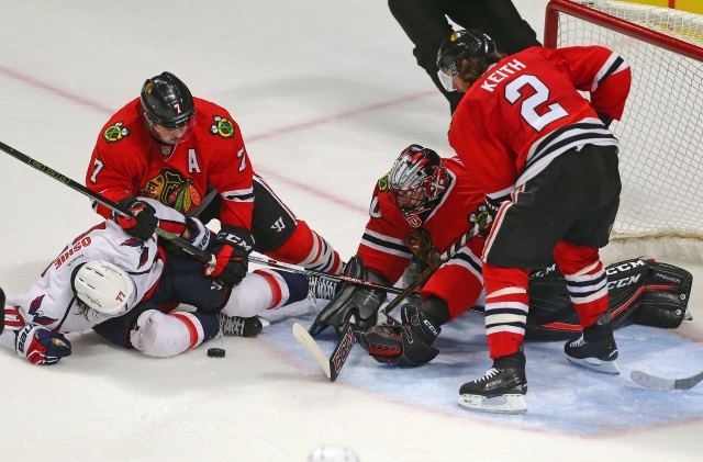 Chicago Blackhawks GM won't comment on reports of asking Duncan Keith and Brent Seabrook to waive NMC.
