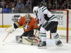 John Gibson has upper-body injury. Patrick Eaves to the IR.