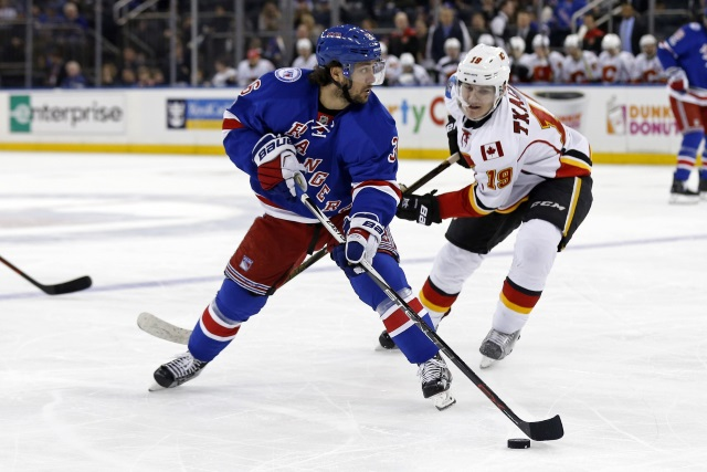 The Calgary Flames and Edmonton Oilers may have had some interest in New York Rangers Mats Zuccarello.