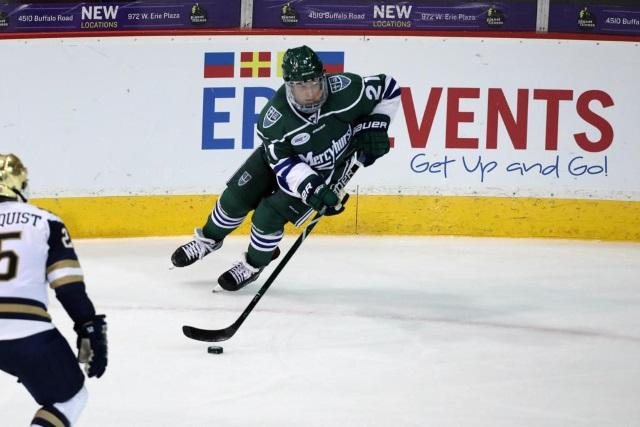 The Toronto Maple Leafs have shown interest in college free agent defenseman Joseph Duszak.