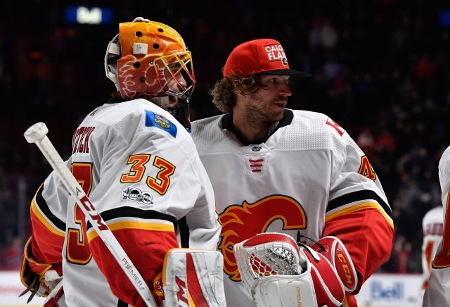 The Calgary Flames were the first Western Conference team to clinch a playoff spot and they've so while lacking a true starting goaltender.