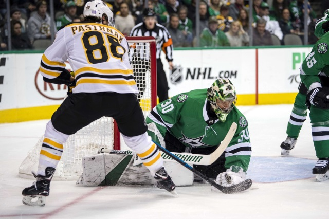 Updates on David Pastrnak and Brad Marchand. Anton Khudobin had COVID this offseason. COVID concerns for the Vancouver Canucks