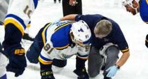 St. Louis Blues forward Vladimir Tarasenko will be evaluated in 10 days