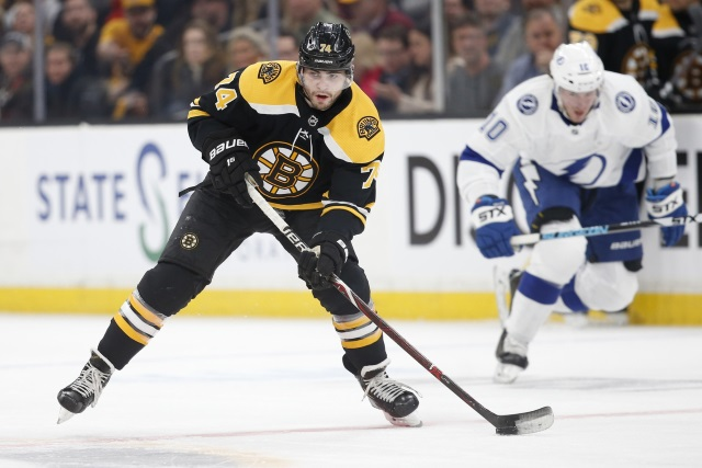 The Boston Bruins are optimistic on Jake DeBrusk this weekend.