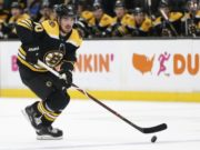 Boston Bruins Marcus Johansson out with a lung contusion.