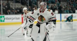 Chicago Blackhawks Cam Ward will be out for seven to 10 days.