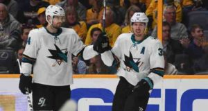 Logan Couture returned, Marc-Edouard Vlasic didn't