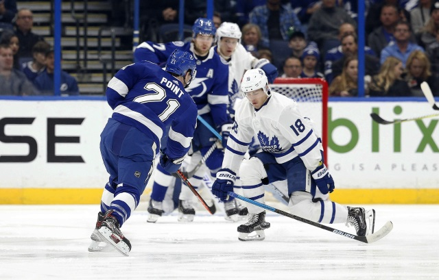 Andreas Johnsson could get paid nicely this summer which would complicate the Leafs cap.