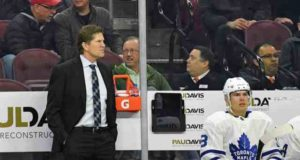 Toronto Maple Leafs coach Mike Babcock is under pressure.
