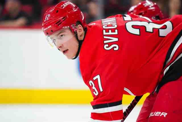 Carolina Hurricanes Andrei Svechnikov is in concussion protocol.