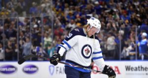 Patrik Laine was one of at least four Winnipeg Jets players dealing with an injury.