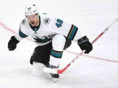 Tomas Hertl became the first player in NHL history to score a short-handed goal in a multiple OT game.