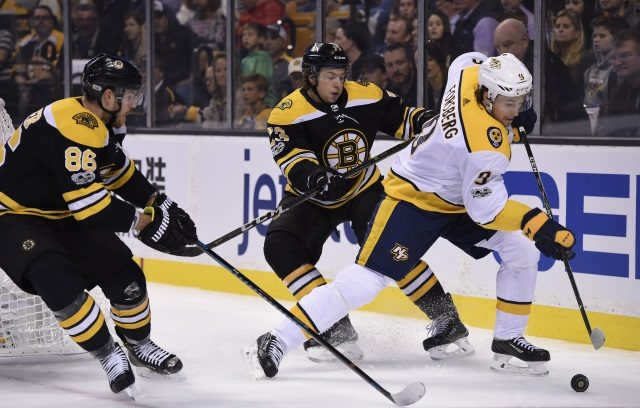Boston Bruins Kevan Miller could return at some point. Charlie McAvoy suspended for one game.