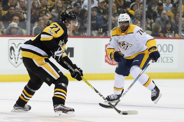 Would a trade involving Evgeni Malkin and P.K. Subban work for both teams? Would a trade involving Jakub Voracek and P.K. Subban work for both teams?