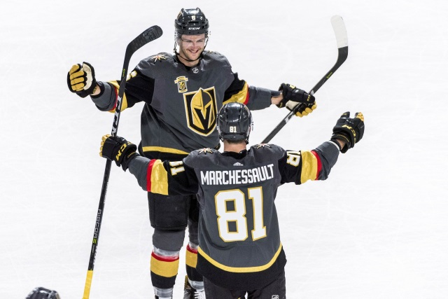 Ottawa Senators and Detroit Red Wings could use someone like Golden Knights Jonathan Marchessault. Calgary Flames GM says trade talk has picked up.