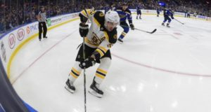 Brad Marchand jammed his hand during a scrimmage but is okay.