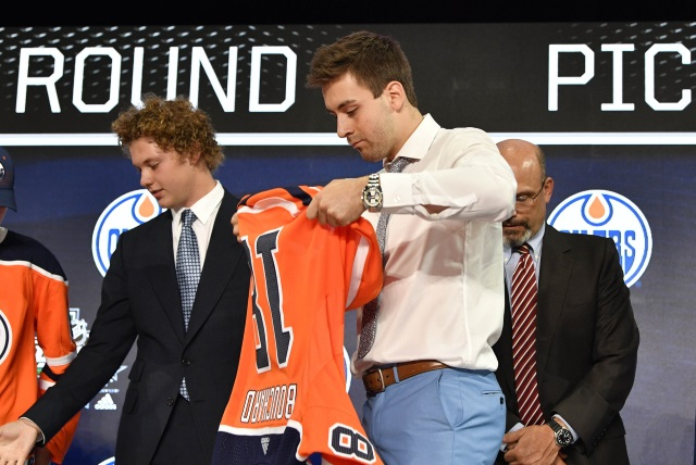 Evan Bouchard - The Edmonton Oilers first round pick last year.