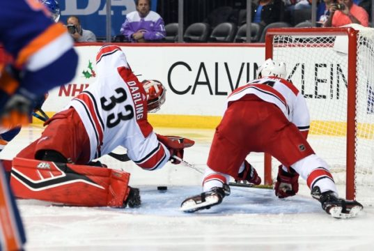 The Carolina Hurricanes could be considering buying out goaltender Scott Darling.