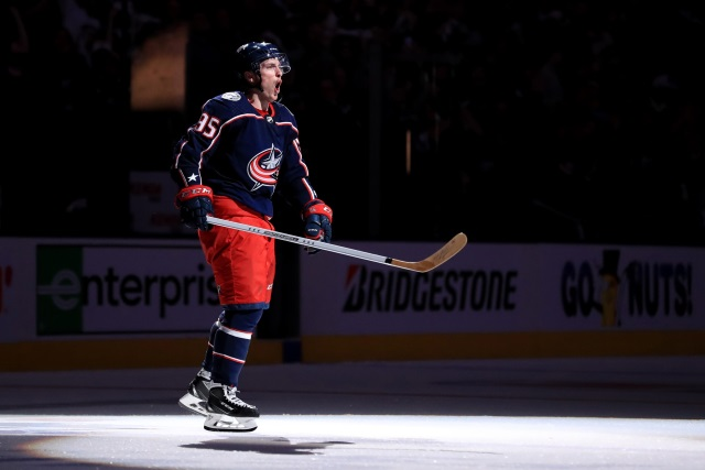 Matt Duchene would consider re-signing with the Columbus Blue Jackets.