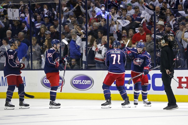 Columbus Blue Jackets pending free agents include Sergei Bobrovsky, Artemi Panarin and Matt Duchene