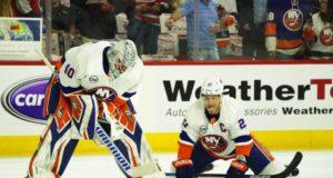 Pending NHL free agents Robin Lehner and Anders Lee