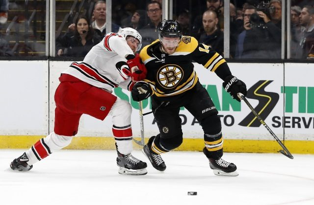 Boston Bruins Chris Wagner may have broken his wrist.