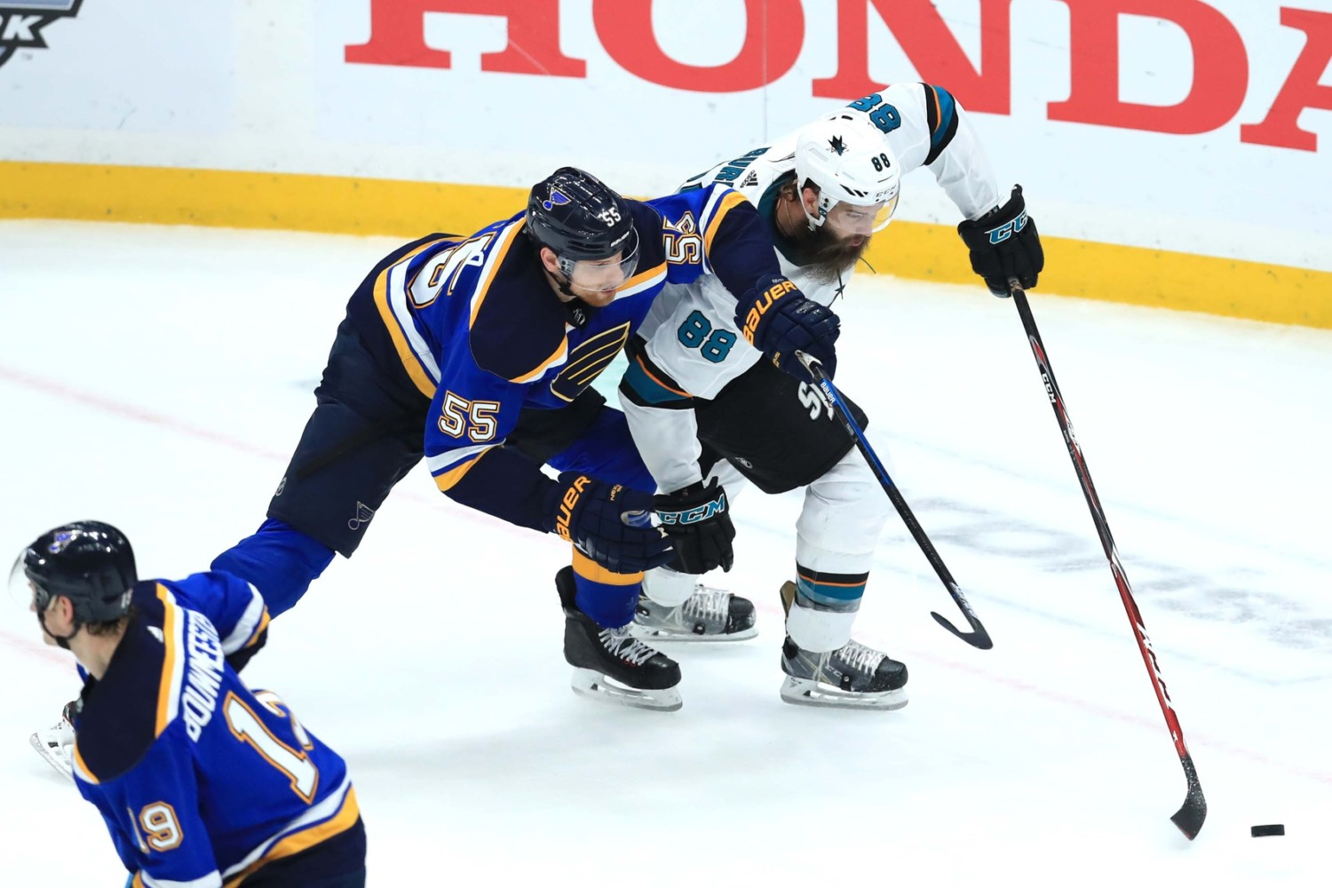 2019 Stanley Cup Playoffs: Blues even series as slow start costs Sharks once again