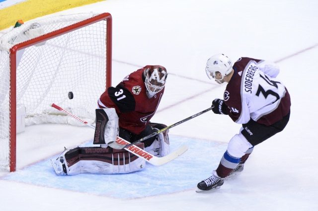 """The Colorado Avalanche have traded forward Carl Soderberg to the Arizona Coyotes for Defenseman Kevin Connauton and a 2020 3rd round pick """"title ="""" The Colorado Avalanche have traded forward Carl Soderberg to the Arizona Coyotes for Defender Kevin Connauton and a 2020 3rd round pick. """"/>    <figcaption class="""
