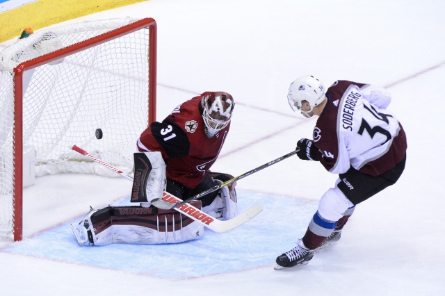 The Colorado Avalanche have traded forward Carl Soderberg to the Arizona Coyotes for defenseman Kevin Connauton and a 2020 3rd round pick.