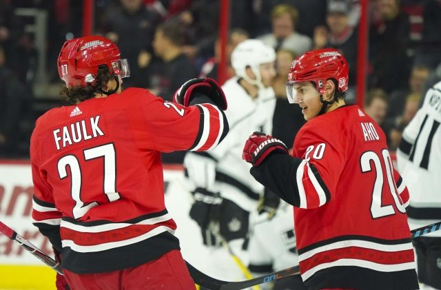 Carolina Hurricanes and Justin Faulk's camp had a good talk. Canes not worried about offer sheets for Sebastian Aho.