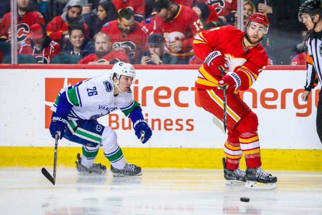 TJ Brodie is one defenseman the Calgary Flames are looking at trading