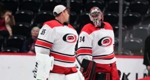 The Carolina Hurricanes don't think they'll be able to re-sign either goaltender. The Anahiem Ducks not thinking of long-term effects of Perry buyout.