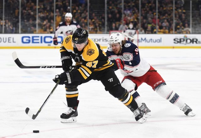 """Teams showing some interest in Torey Krug. Columbus Blue Jackets paying the price now for their attempted cup run. """"Title ="""" Teams showing some interest in Torey Krug. Columbus Blue Jackets paying the price now for their attempted cup run. """"/>    <figcaption class="""