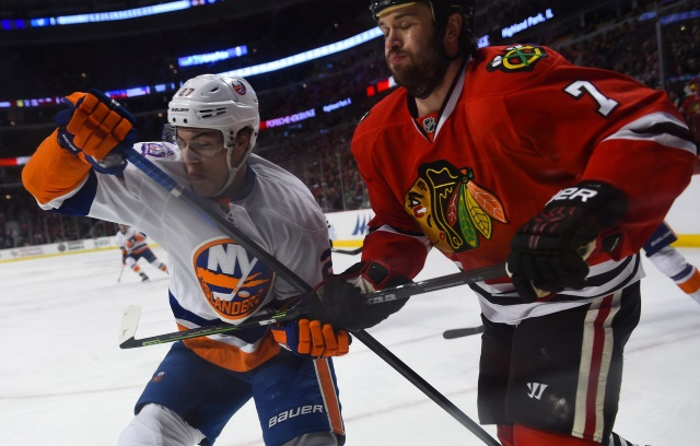 Chicago Blackhawks not focused on trading Duncan Keith and Brett Seabrook. Potential free agent targets for the Blackhawks.