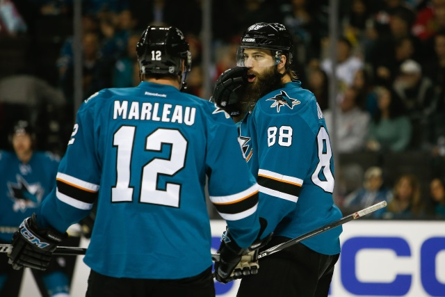 Patrick Marleau would be okay with a San Jose Sharks return, but they have bigger priorities at the moment.