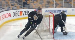 Zdeno Chara and Matt Grzelcyk are game-time decisions